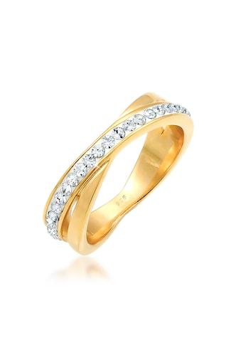 Elli Fingerring »Wickelring Zart Swarovski® Kristalle 925 Silber« kaufen