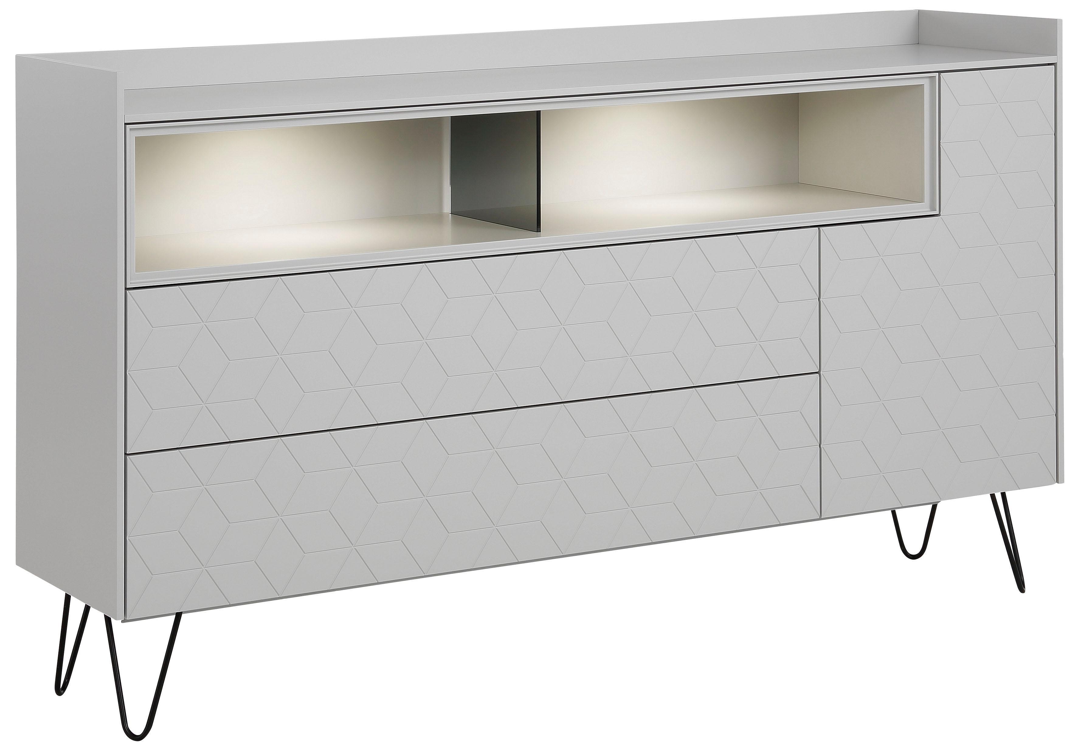 Villeroy & Boch Sideboard MOSAÏQUE Amara carré mit Haarnadelfuß 2 offene Fächer Breite 178 cm