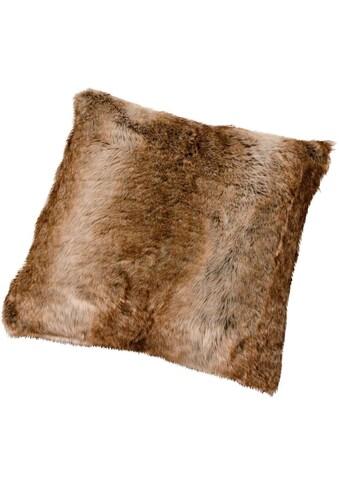 Gözze Fellkissen »Braunbär Felloptik«, mit Federn gefüllt kaufen
