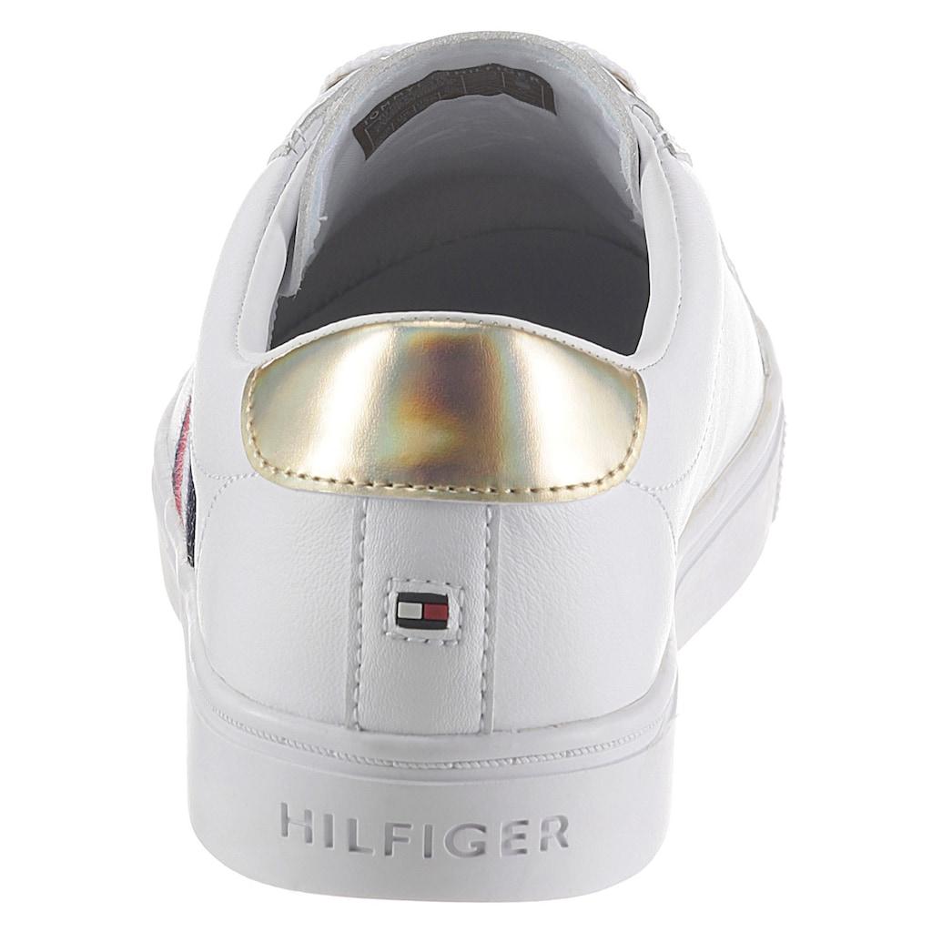 TOMMY HILFIGER Sneaker »TH CORPORATE CUPSOLE SNEAKER«, mit seitlichen Streifen