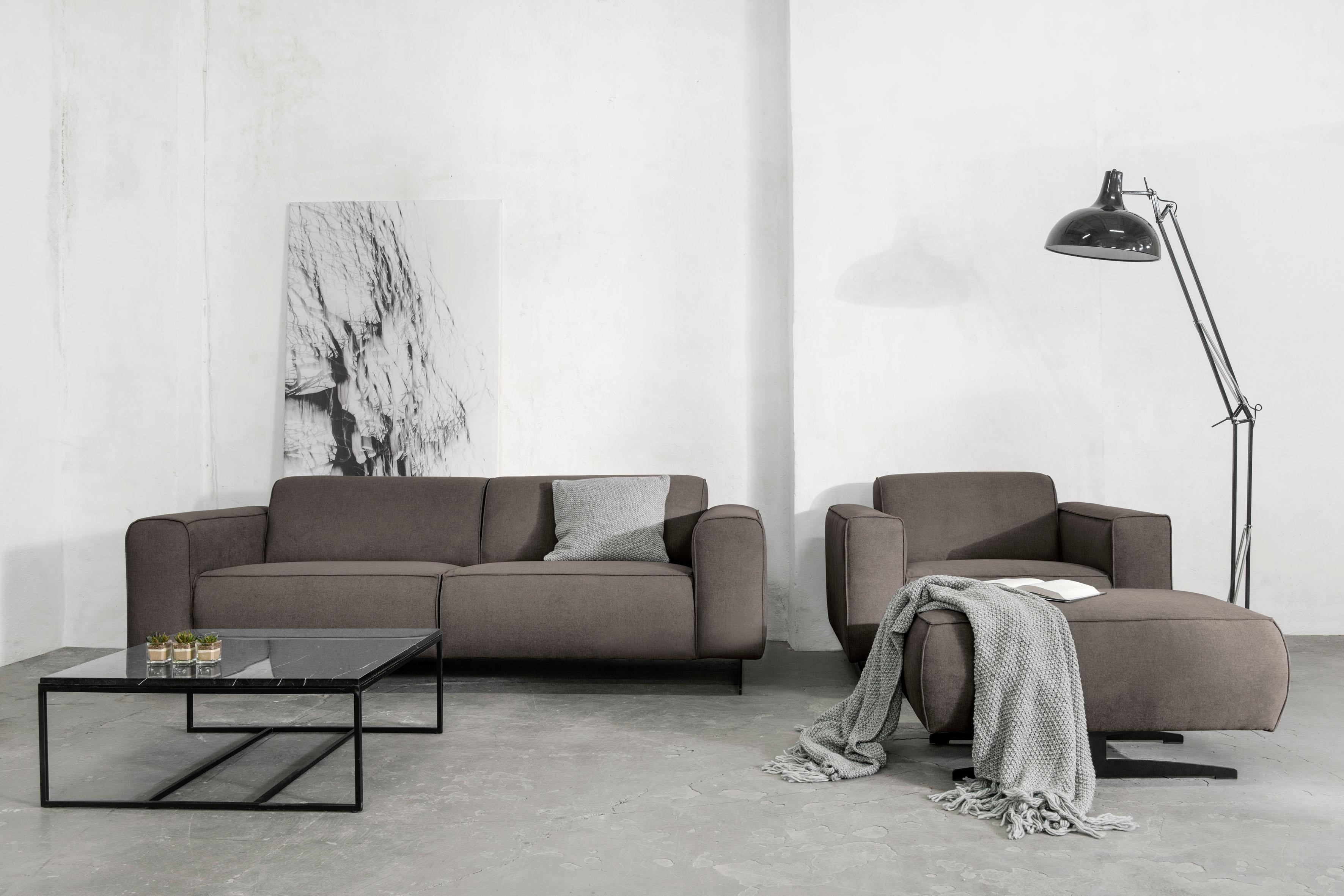 Places of Style 3-Sitzer »Murcia« mit Federkern, Keder und besonderen Metallfüßen