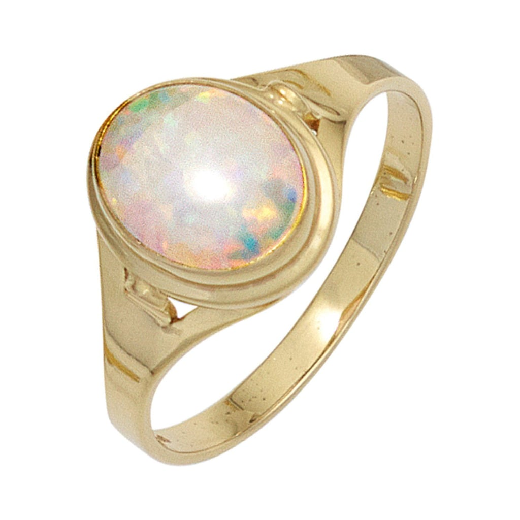 JOBO Goldring, 333 Gold mit synthetischem Opal