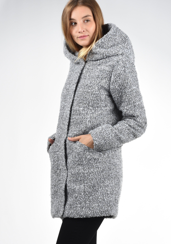jacqueline de yong -  Kurzmantel Birke, Mantel aus warmer Boucle-Qualität