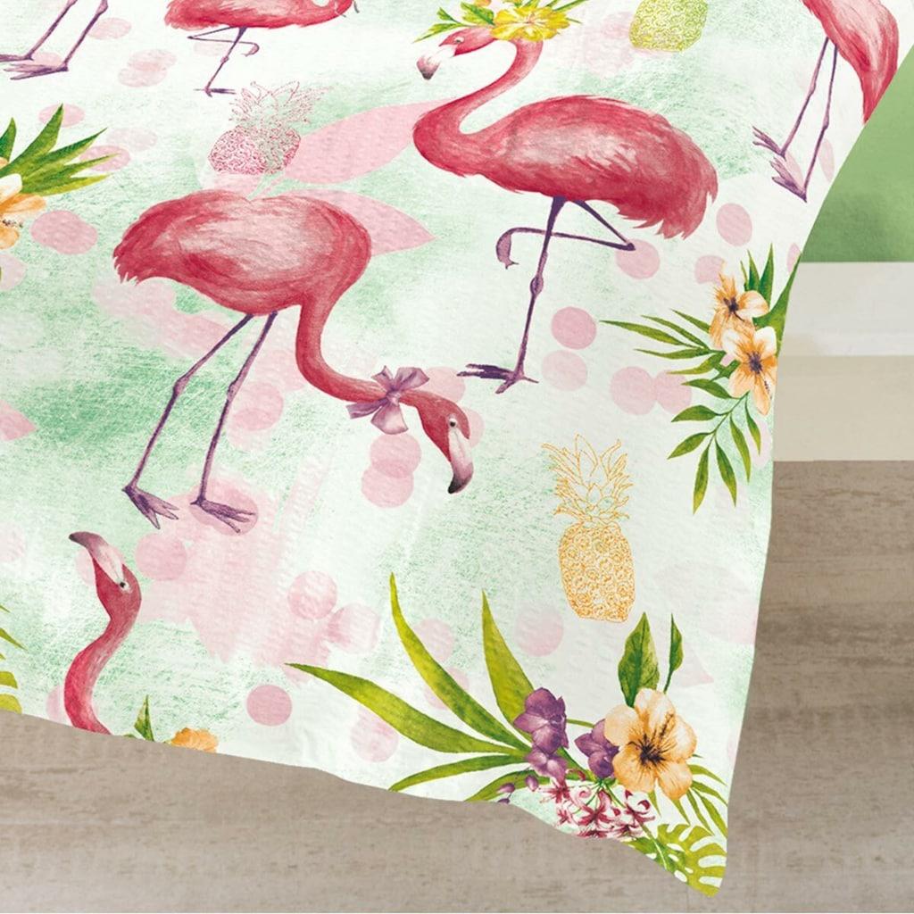 TRAUMSCHLAF Bettwäsche »Flamingo rose«, bügelfreie Seersucker Qualität