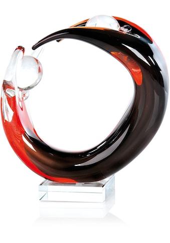 Casablanca by Gilde Dekoobjekt »Skulptur Circle of Life«, Höhe 24 cm, durchgefärbtes Glas, mundgeblasen, Wohnzimmer kaufen