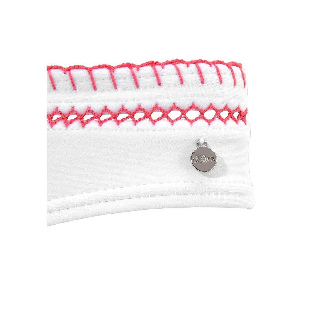 s.Oliver Beachwear Bügel-Bikini, mit Häkelkante