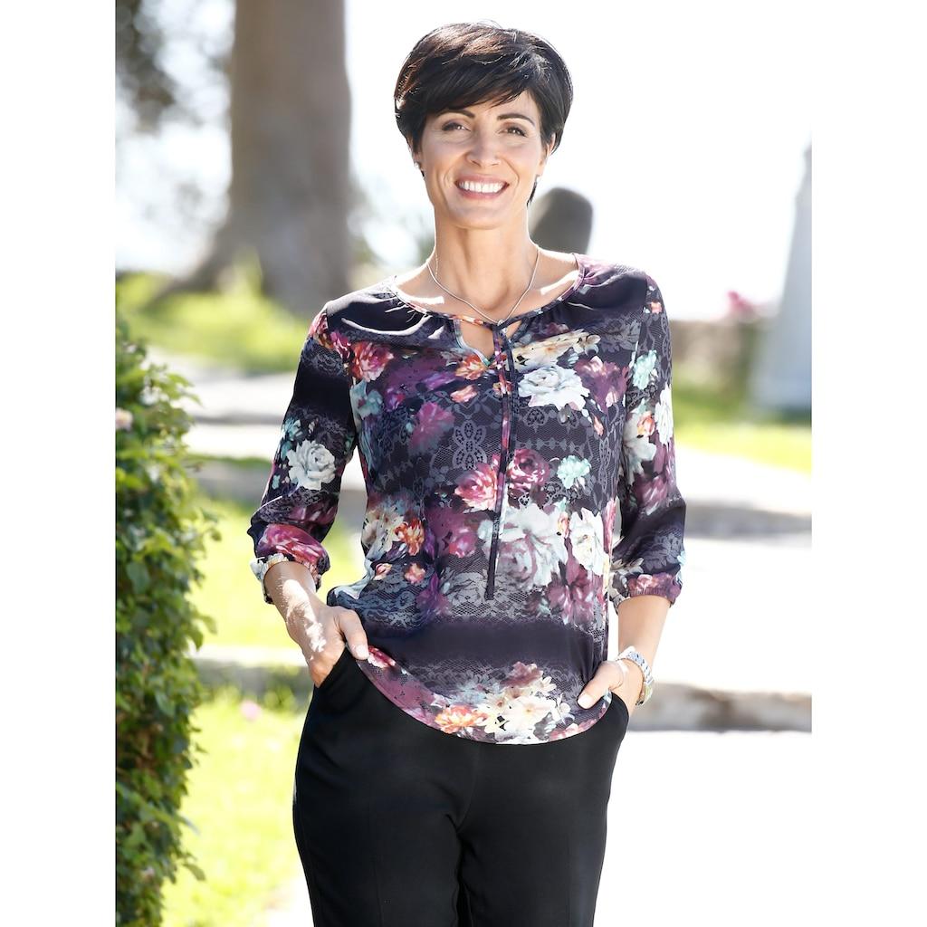 Paola Tunika mit floralem Spitzendruck