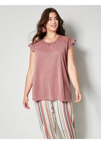 Angel of Style by HAPPYsize Shirt mit Ärmeln aus Spitze kaufen