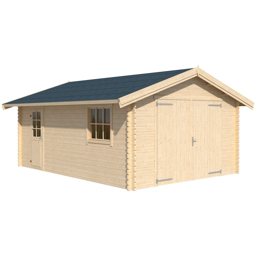 Nordic Holz Garage »Yarik«, BxT: 474x583 cm, 202 cm Einfahrthöhe
