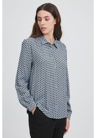 Ichi Langarmbluse »IHVERA SH3 20113529«, Bluse mit Allover-Muster kaufen