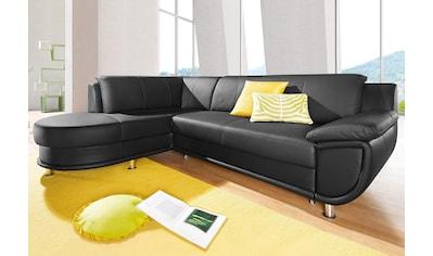 TRENDMANUFAKTUR Ecksofa, inklusive komfortablen Federkerns, wahlweise mit Bettfunktion kaufen