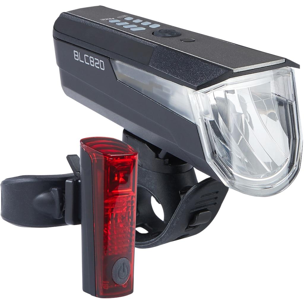 Büchel Fahrradbeleuchtung »BLC 820 + Duo LED«, (Set, 5, Front- und Rücklicht)
