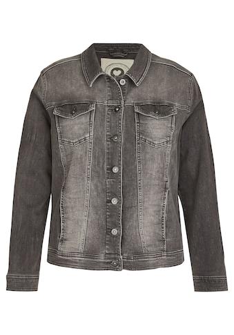 VIA APPIA DUE Jeansjacke, mit unifarbenem Stoff kaufen