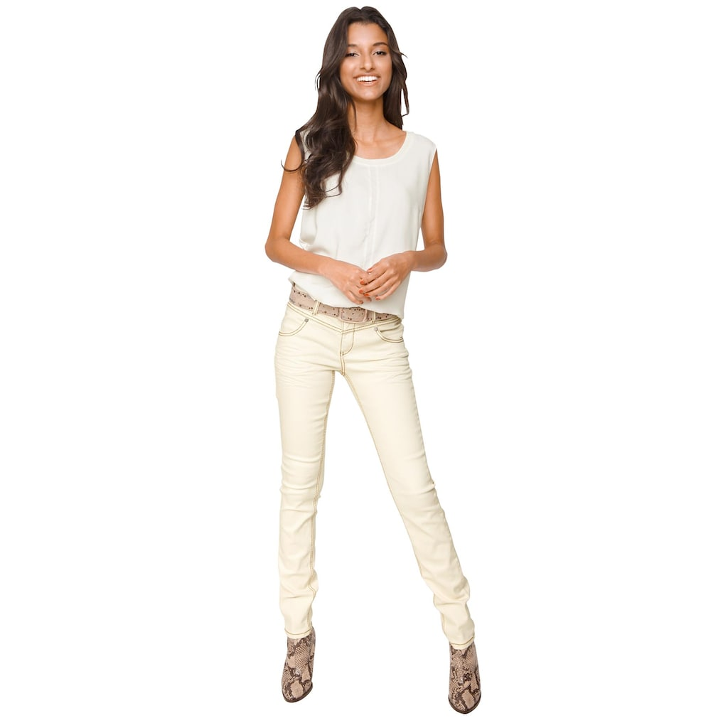 LINEA TESINI by Heine Skinny-fit-Jeans, im Used-Look