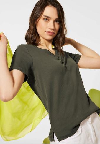 Cecil V-Shirt, einfarbiges Basic-Shirt kaufen