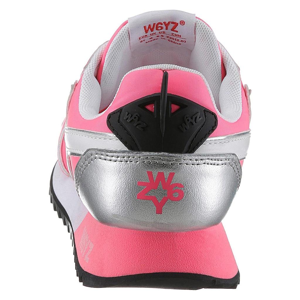 W6YZ Keilsneaker, in stylischer Neon-Optik