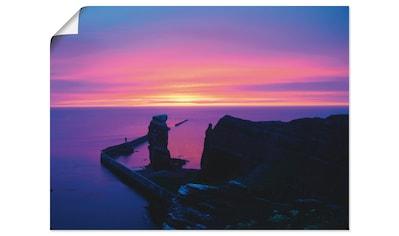 Artland Wandbild »Abend auf Helgoland«, Sonnenaufgang & -untergang, (1 St.), in vielen... kaufen