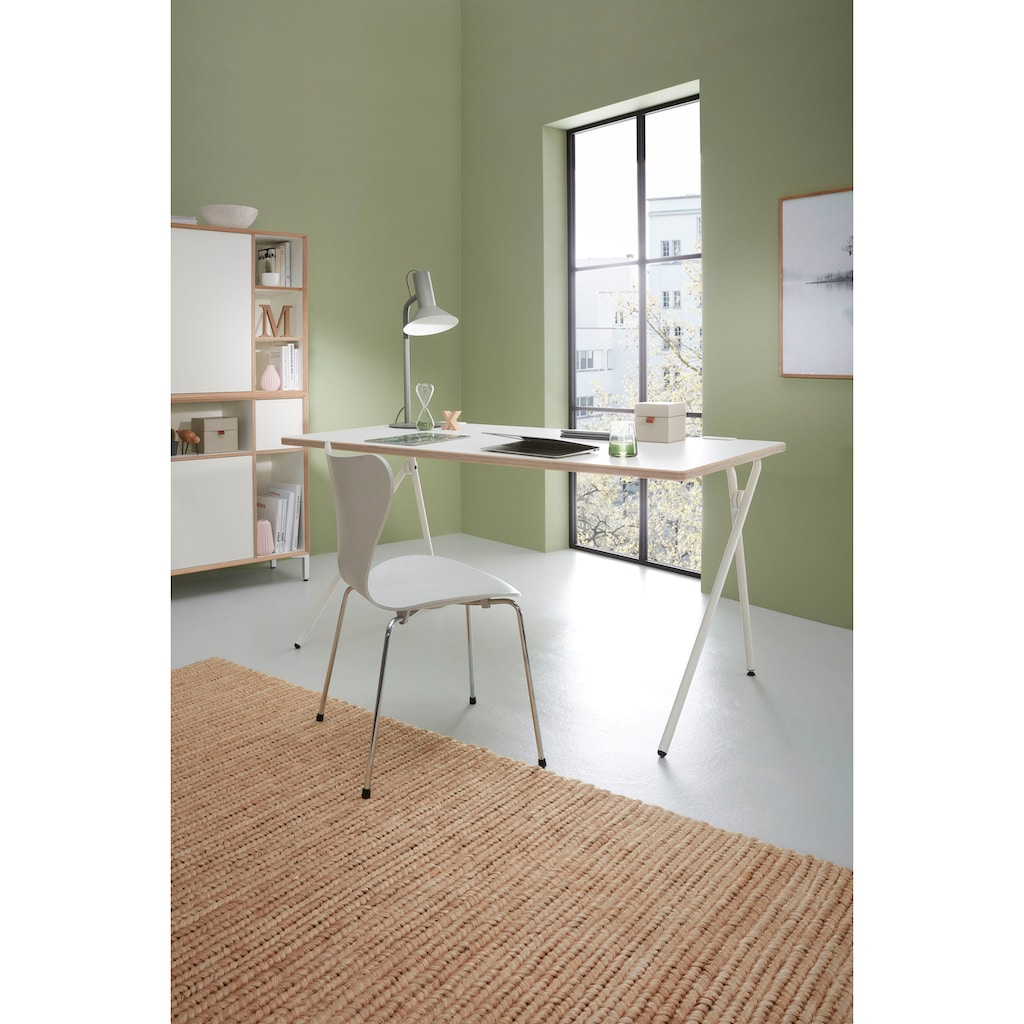 Müller SMALL LIVING Sekretär »PLATO One«, weißes Gestell, Home Office minimal, einfach zusammenklappen, fertig