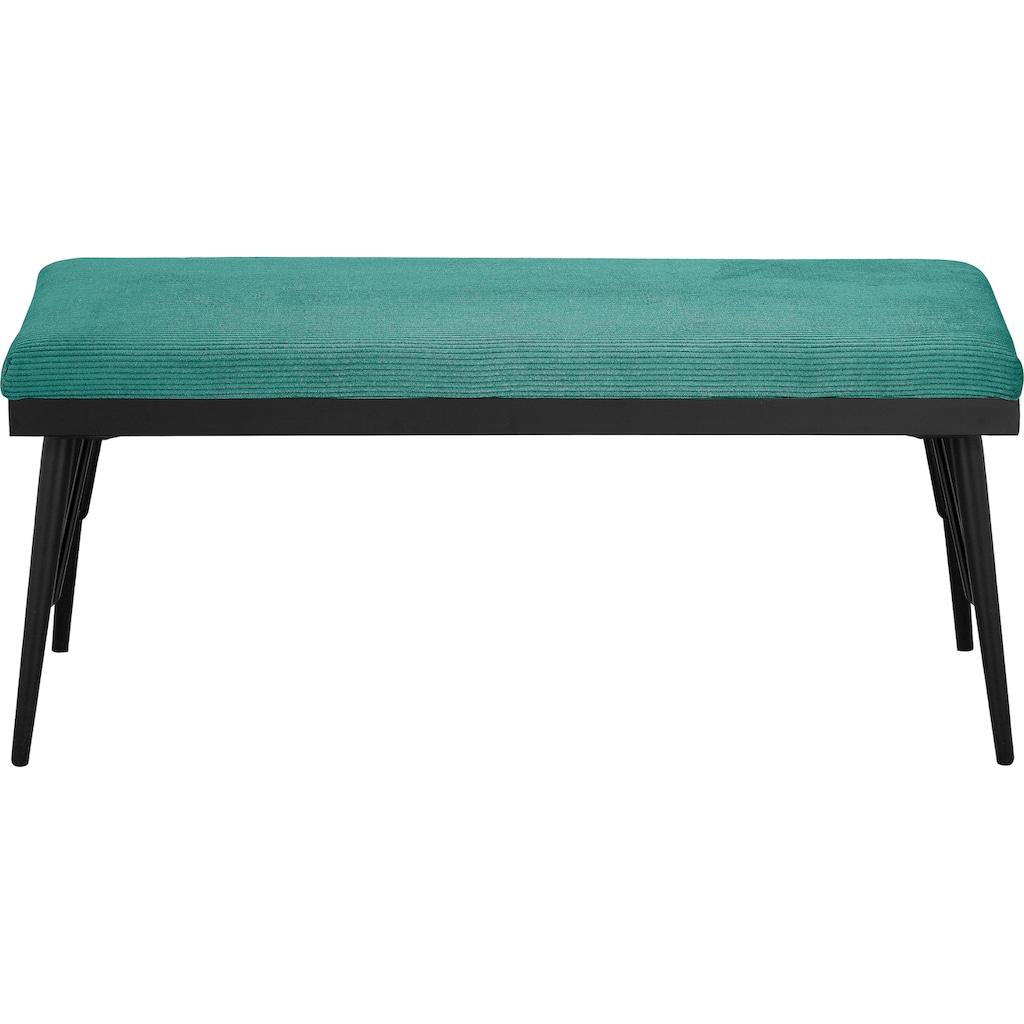 my home Bettbank »Josh«, in 3 Farben und 3 Größen erhältlich, Gestelle aus Metall, Sitzfläche gepolstert, Sitzbank, auch für den Eingangsbereich geeignet