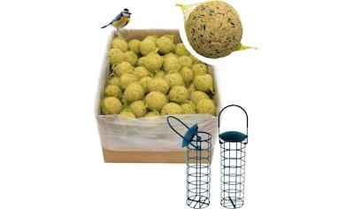 DOBAR Set: Vogelfutter »Meisenknödel«, 100 Stk. mit Netz inkl. 2 Futterspender kaufen