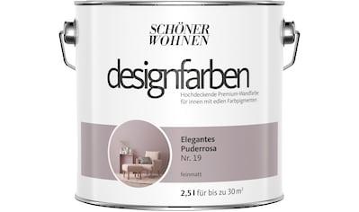 SCHÖNER WOHNEN-Kollektion Wandfarbe »Designfarben«, elegantes Puderrosa Nr. 19, feinmatt 2,5 l kaufen