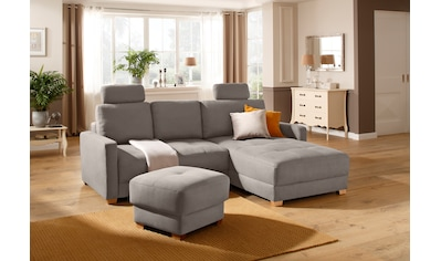 DELAVITA Ecksofa »Casella«, mit Bettfunktion und Bettkasten, Steppung im Sitzbereich kaufen