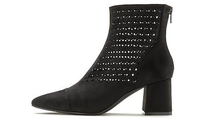 LASCANA Stiefelette, mit Cut-Outs und komfortabler Absatzhöhe kaufen