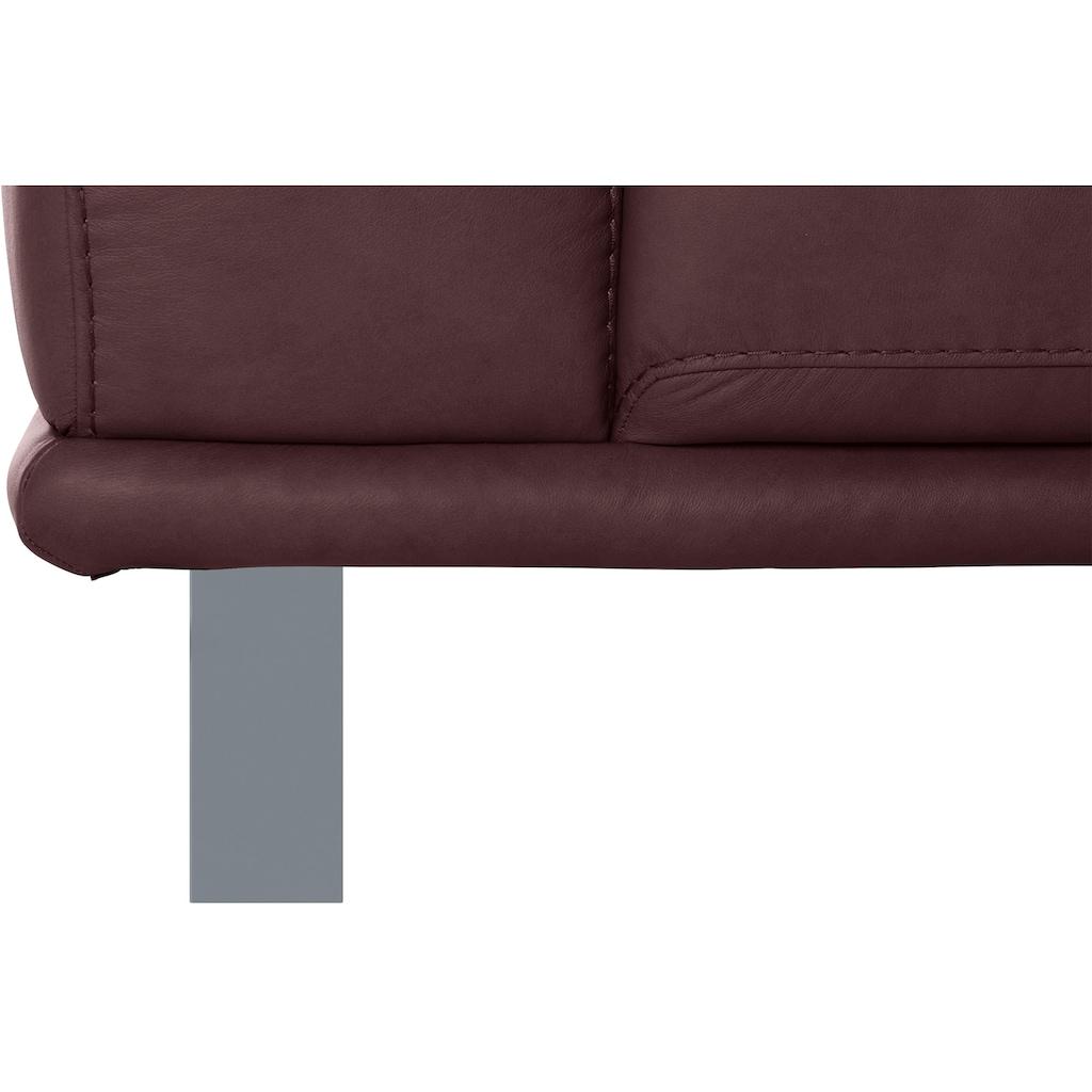 W.SCHILLIG 2-Sitzer »montanaa«, mit Metallkufen in Silber matt, Breite 192 cm
