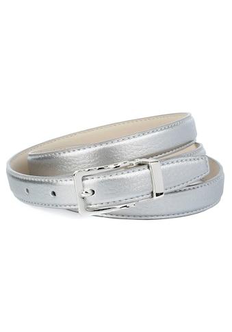 Anthoni Crown Ledergürtel, in Hirschprägung mit silberfarbener Schließe kaufen
