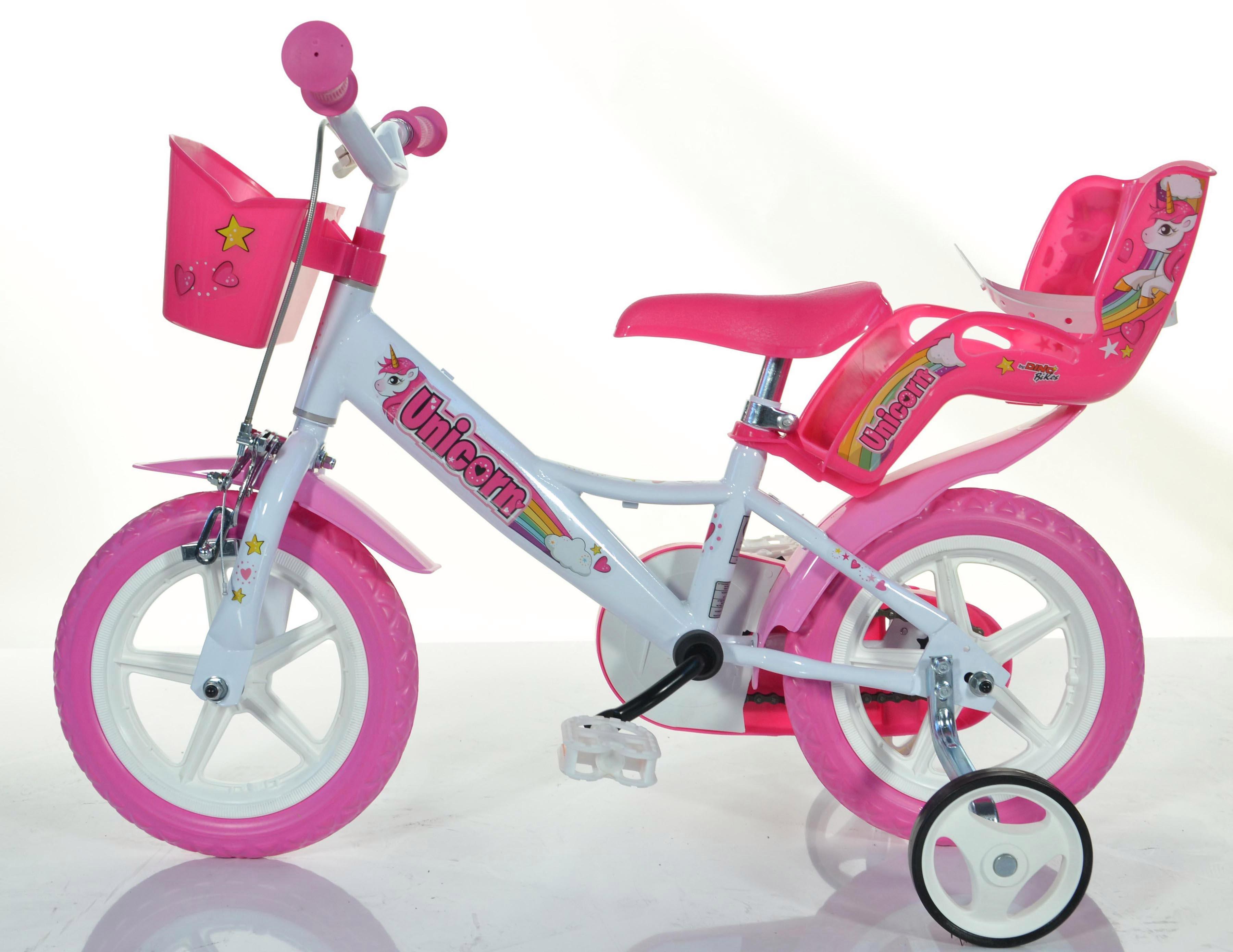 Dino Kinderfahrrad EINHORN weiß Kinder Kinderfahrräder Fahrräder Zubehör Fahrrad