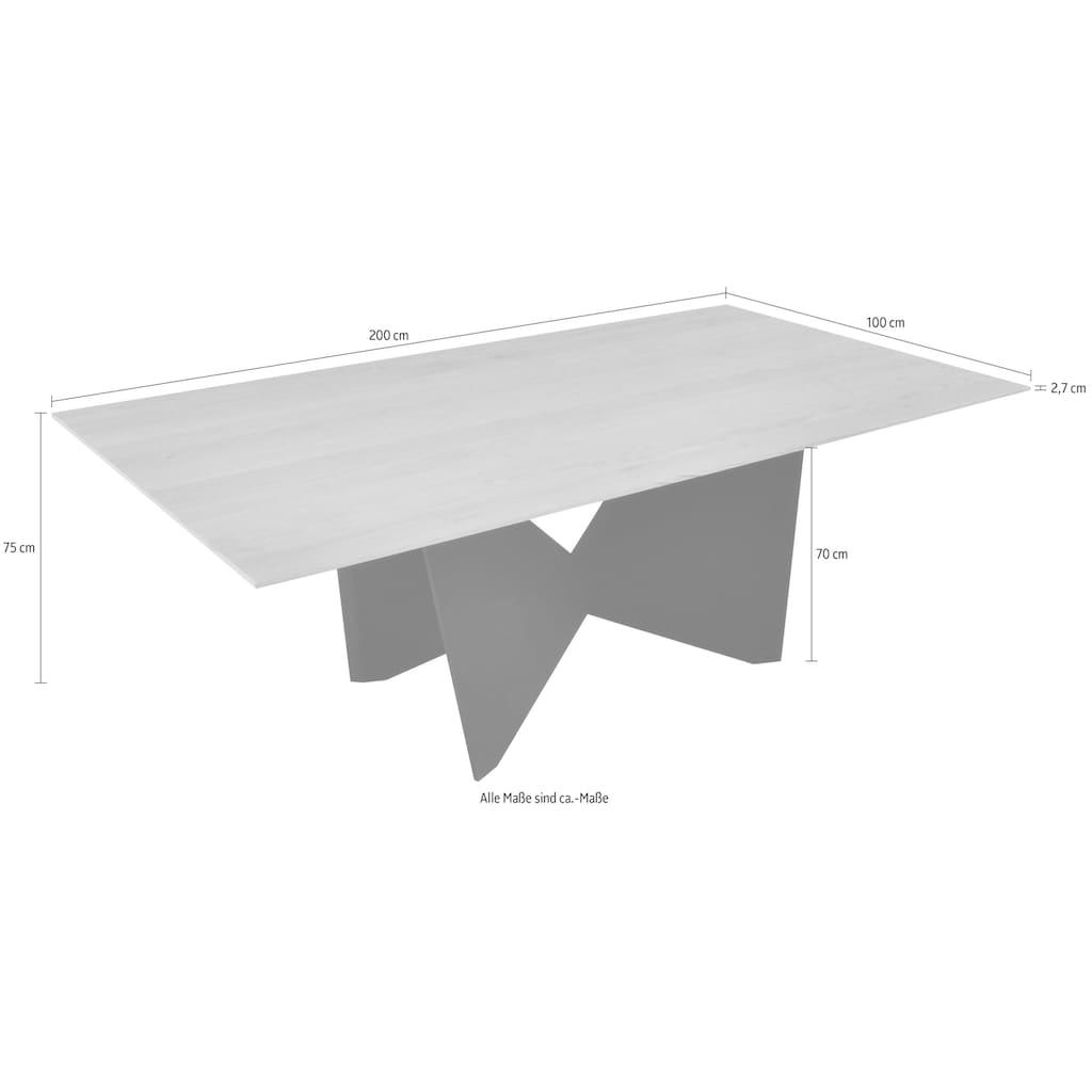 K+W Komfort & Wohnen Esstisch »Drive«, Schmetterlingsuntergestell schwarz, in 2 Breiten, wahlweise mit Butterfly-Auszugsfunktion