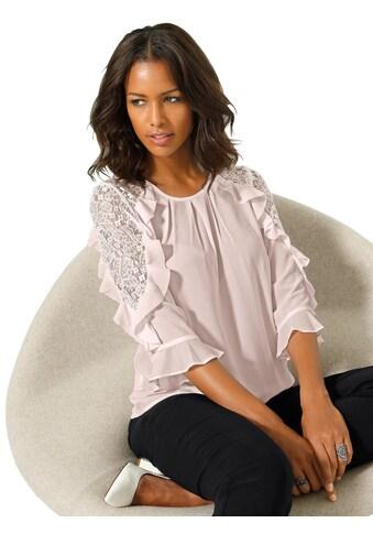 Alessa W. Bluse mit femininer Volant - Verzierung kaufen