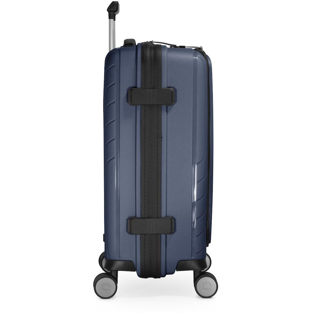 Hauptstadtkoffer Hartschalen-Trolley »TXL, dunkelblau, 55 cm«, 4 Rollen, mit gepolstertem Laptopfach