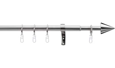 indeko Gardinenstange »Kegel«, 1 läufig-läufig, ausziehbar, edelstahlfarben kaufen