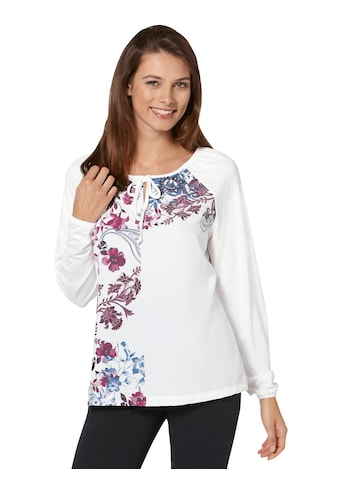 Ambria Shirt mit Rundhals - Ausschnitt mit Bindeband und Schlitz kaufen