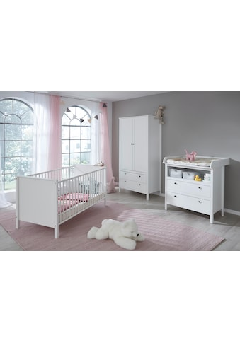 Babyzimmer-Komplettset »Westerland«, (Set, 3 St.), Bett + Wickelkommode + 2 trg. Schrank kaufen