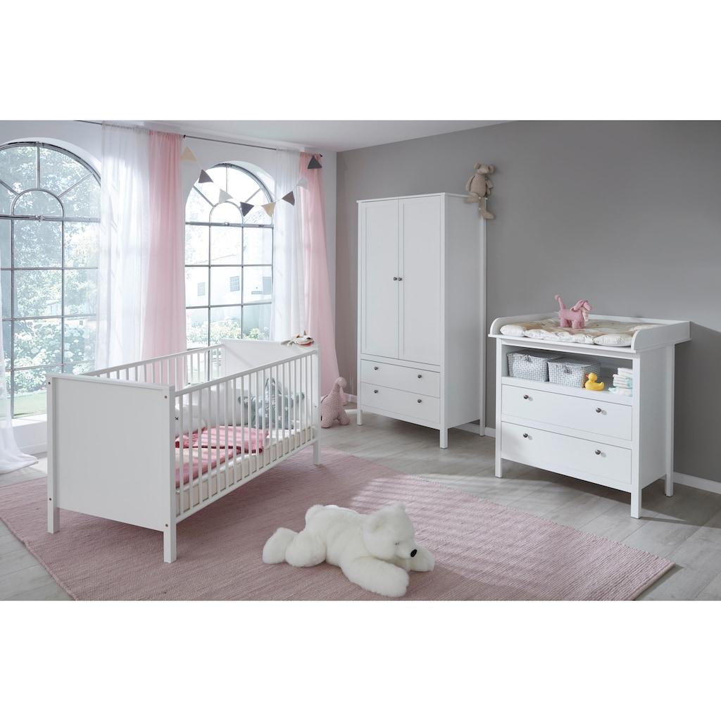 Babyzimmer-Komplettset »Westerland«, (Set, 3 St.), Bett + Wickelkommode + 2 trg. Schrank