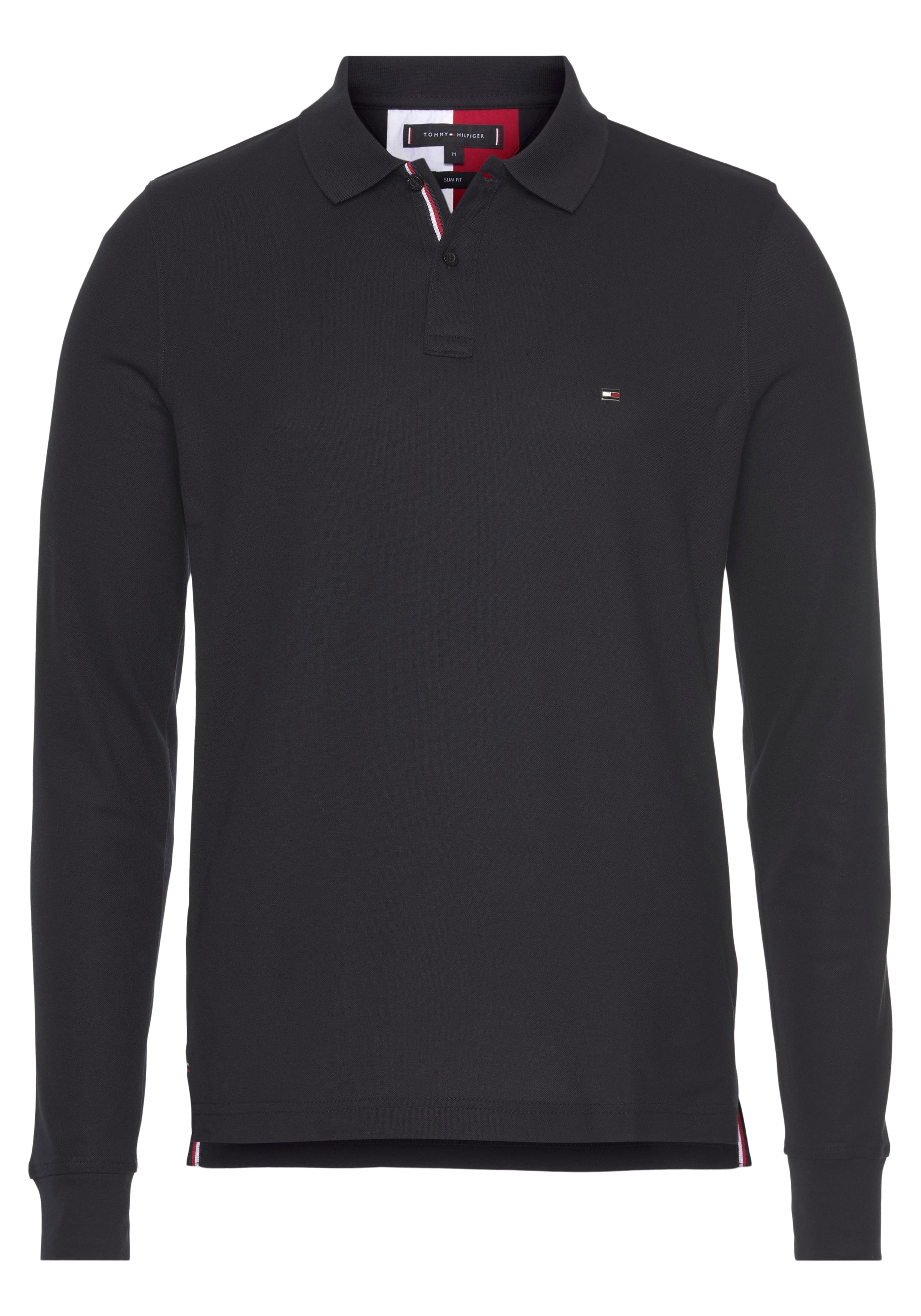 tommy hilfiger -  Langarm-Poloshirt LUXURY STRETCH SLIM LS POLO