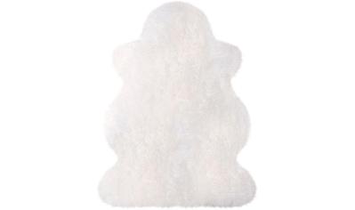 Fellteppich, »Lammfell 100 weiß«, Heitmann Felle, fellförmig, Höhe 70 mm, gegerbt kaufen