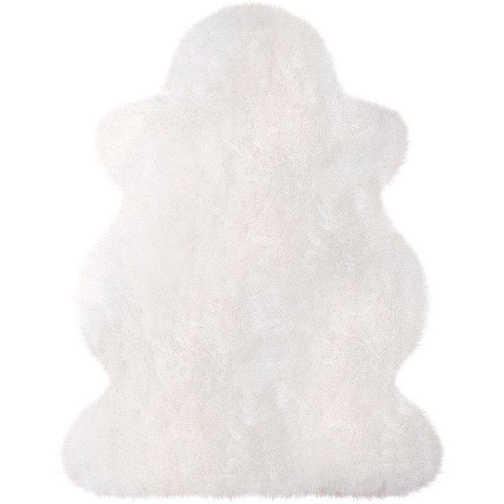 Heitmann Felle Fellteppich »Lammfell 100 weiß«, fellförmig, 70 mm Höhe, echtes Austral. Lammfell, Wohnzimmer