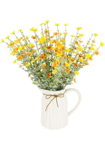 I.GE.A. Kunstblume »Blütenbusch«, Im Keramik-Krug mit Schleife kaufen
