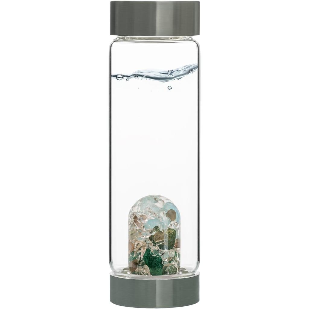 VitaJuwel Wasserkaraffe »Edelsteinflasche ViA Forever Young«, (Aquamarin - Aventurin - Rauchquarz - Bergkristall)
