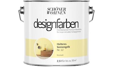 SCHÖNER WOHNEN-Kollektion Wand- und Deckenfarbe »Designfarben«, Heiteres Sonnengelb Nr. 12, feinmatt 2,5 l kaufen