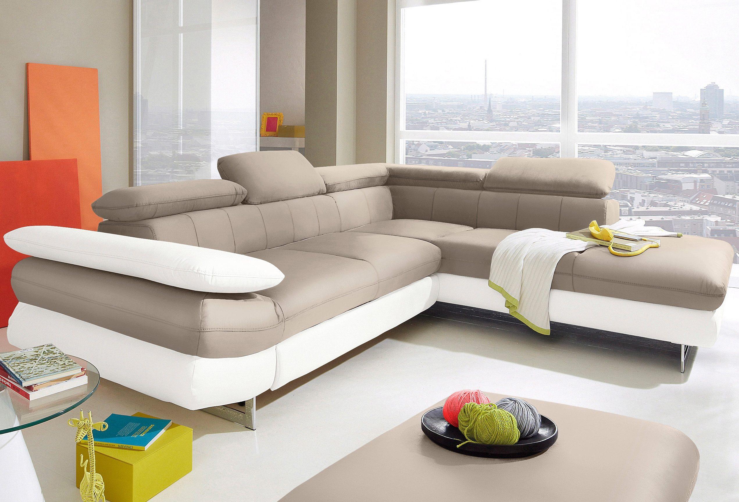 INOSIGN Ecksofa | Wohnzimmer > Sofas & Couches > Ecksofas & Eckcouches | Weiß | Kunstleder - Microfaser | INOSIGN