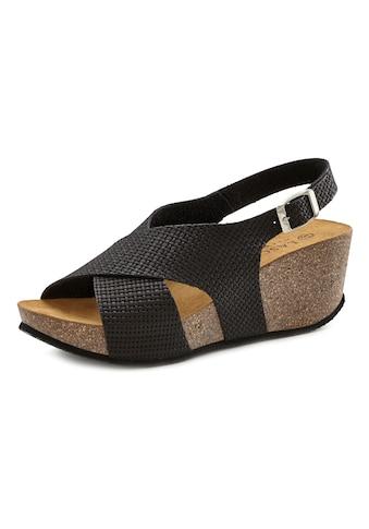 LASCANA Sandalette, mit Korkfußbett und Keilabsatz kaufen