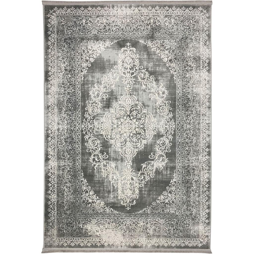 RESITAL The Voice of Carpet Teppich »Style 5860«, rechteckig, 8 mm Höhe, Kurzflor, mit Fransen, Wohnzimmer