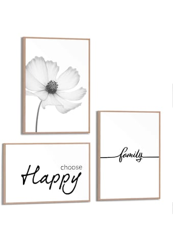Reinders! Wandbild »Wandbilder Set Modern Familie Glück - Positiv - Blume - Natur«,... kaufen