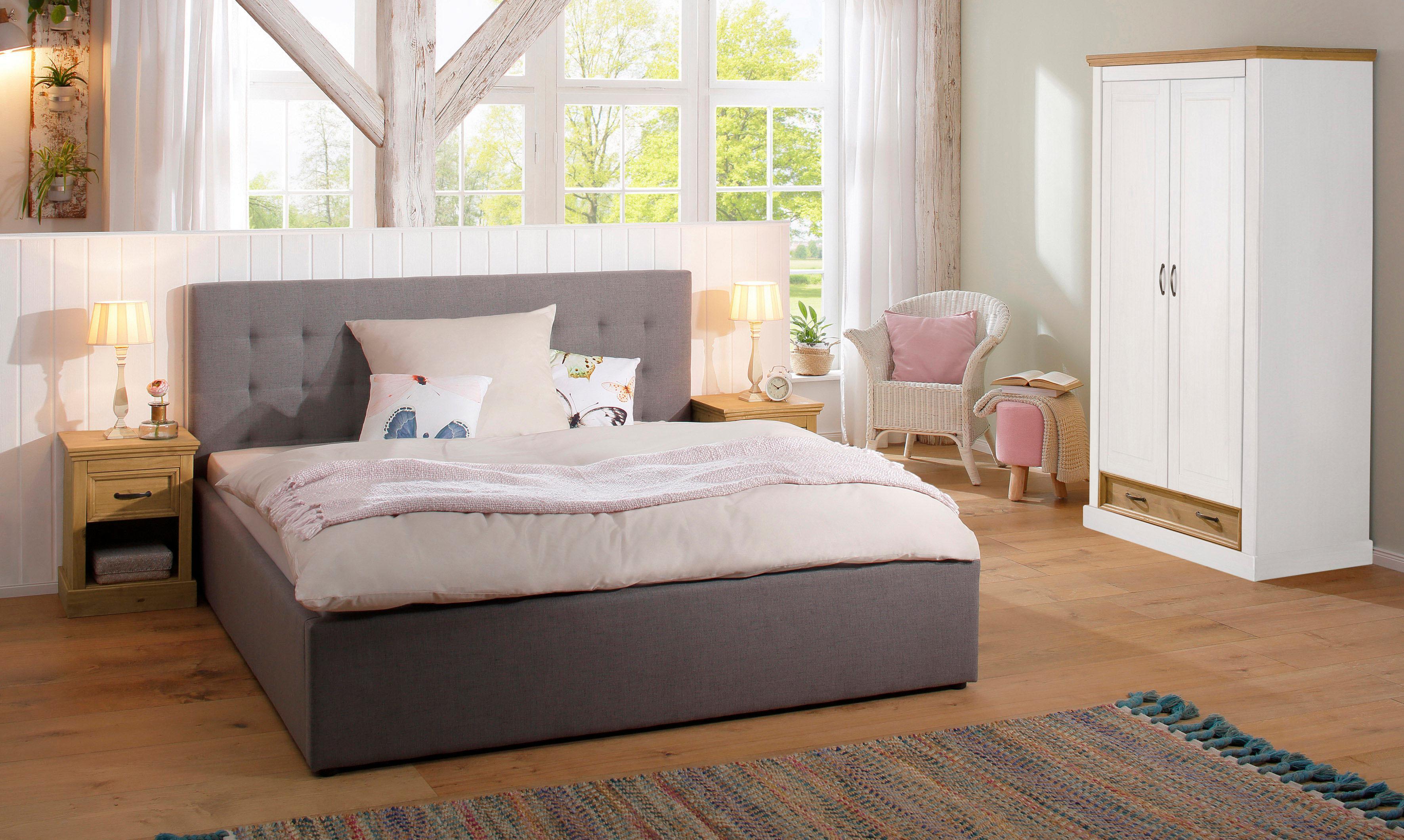 Home Affaire zweitüriger Kleiderschrank Selma für das Schlafzimmer aus massiven Holz Höhe 190 cm