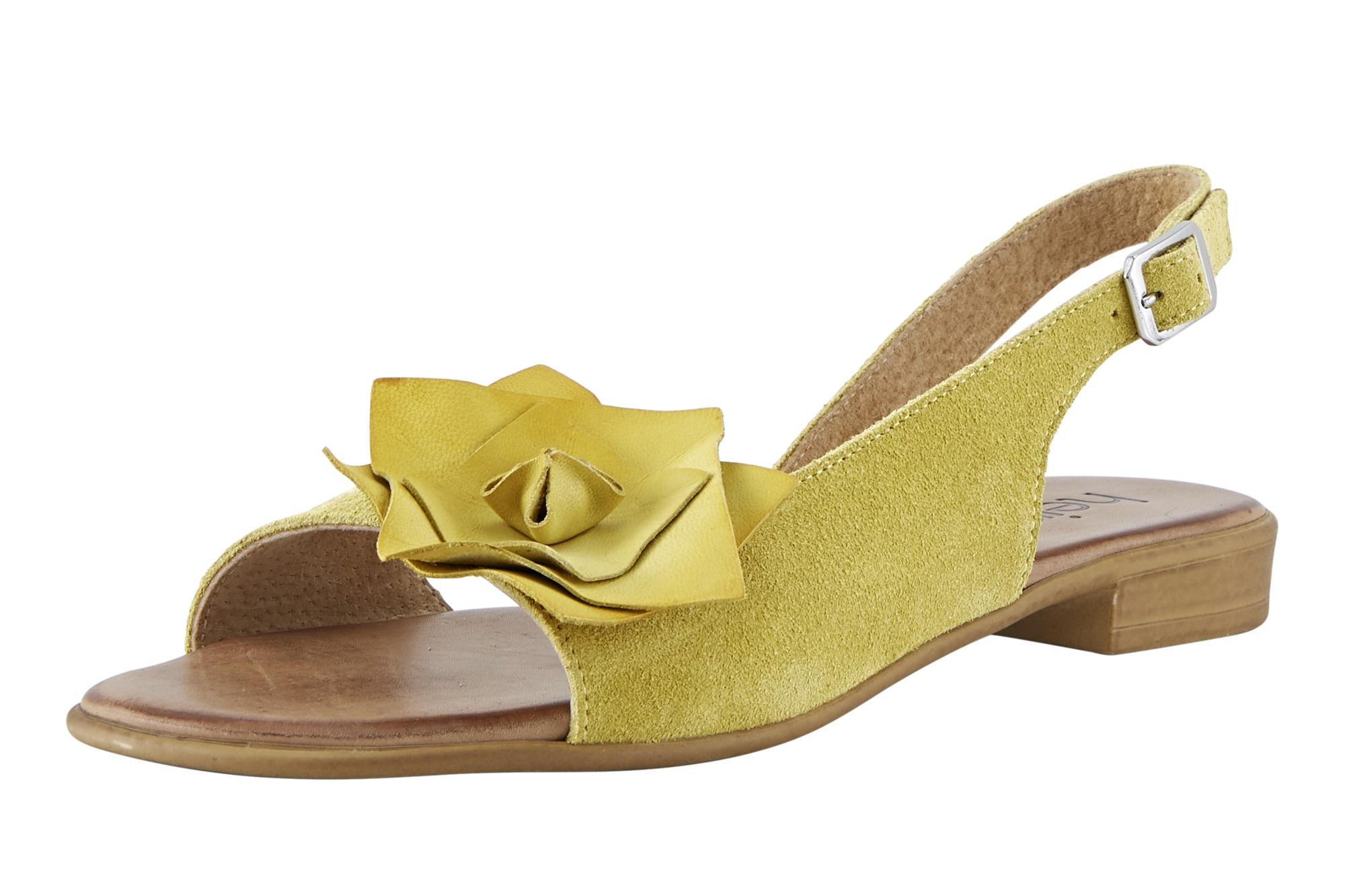heine -  Sandalette mit großer Bllütenapplikation