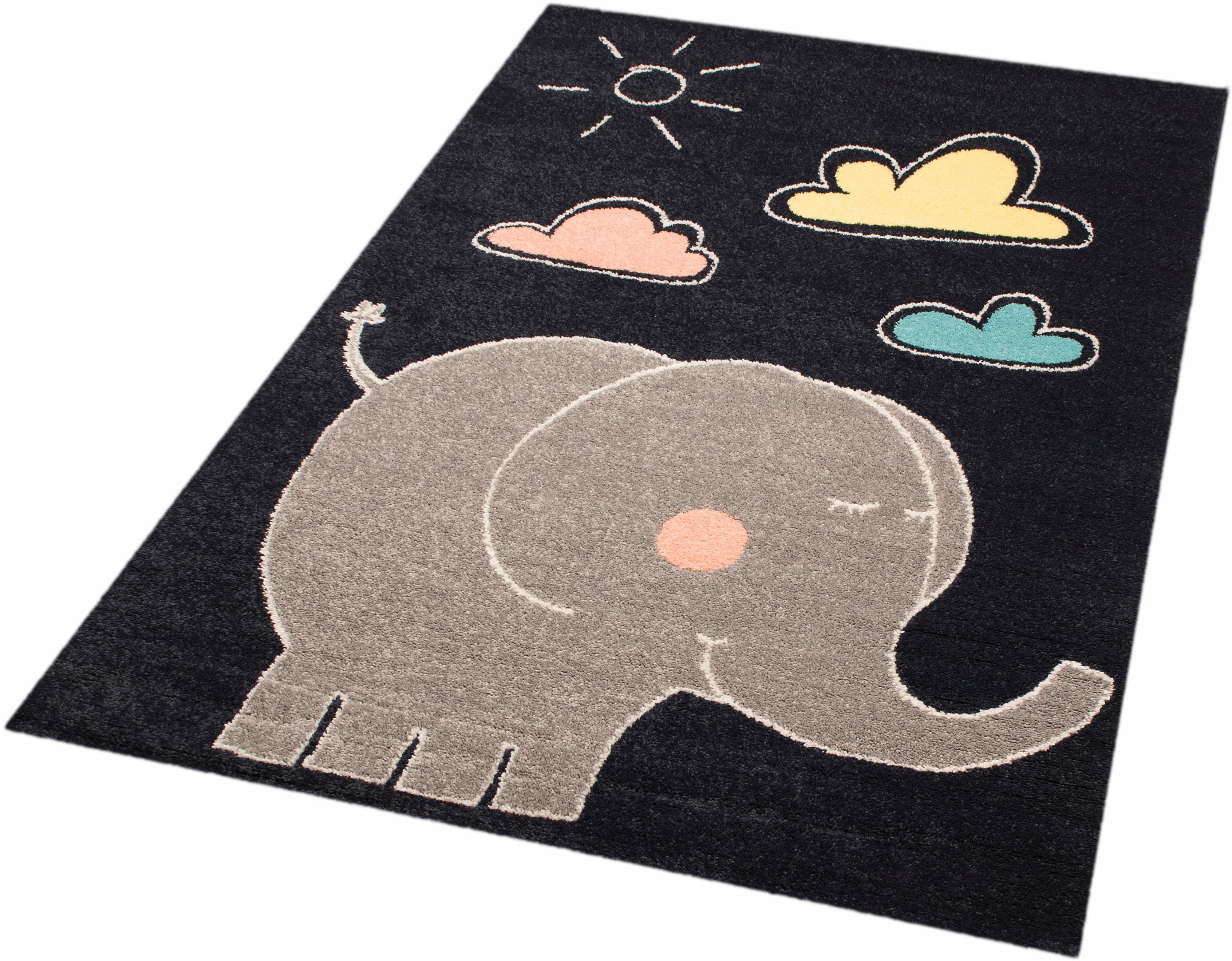Kinderteppich Elephant Jumbo Zala Living rechteckig Höhe 8 mm maschinell gewebt